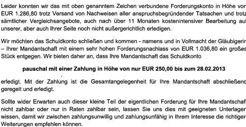 Rechtsanwalt Andreas Schwartmann Bettelbriefe aus Witten Mahnbescheid Anwaltsleben