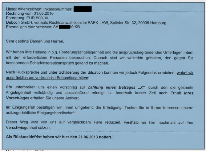 Rechtsanwalt Andreas Schwartmann Ein Spendenaufruf der Debcon - ganz vertraulich! Mahnbescheid Anwaltsleben