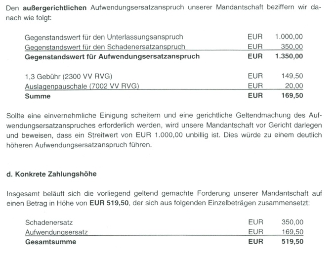 Rechtsanwalt Andreas Schwartmann Waldorf Frommer: Die neuen Preise sind da! Urheberrechtsverletzung Anwaltsleben Abmahnung