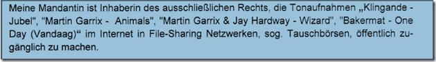 Rechtsanwalt Andreas Schwartmann RA Daniel Sebastian mahnt weiter ab: Martin Garrix, Klingande und Bakermat Urheberrechtsverletzung Schadensersatz Anwaltsleben Abmahnung