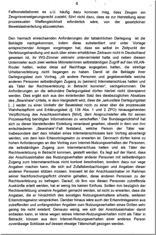 Rechtsanwalt Andreas Schwartmann AG Köln: Sekundäre Darlegungslast in Filesharing-Klagen Urheberrechtsverletzung Schadensersatz Anwaltsleben