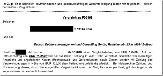 Rechtsanwalt Andreas Schwartmann Vergleichsangebote von RA Sebastian und der Debcon Urheberrechtsverletzung Anwaltsleben