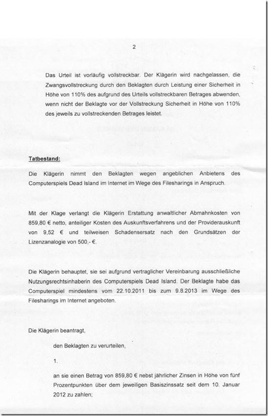Rechtsanwalt Andreas Schwartmann AG Düsseldorf weist Klage von rka für Koch Media ab Schadensersatz Anwaltsleben Abmahnung